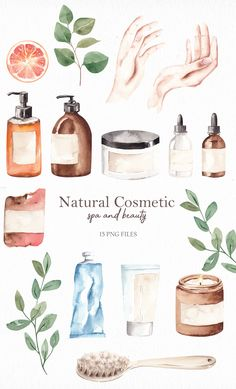 Beauty Illustration, Cute Illustration, Watercolor Illustration, Natural Cosmetics, Makeup Stickers, Ideas For Instagram Photos, Aesthetic Photography Nature, Organic Skin Care, Beauty Spa