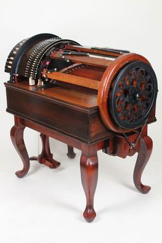 The Wheelharp is a groundbreaking keyboard musical instrument that gives the player the ability to orchestrate a full chromatic scale of 61 actual bowed strings at ones own fingertips, almost like having a real chamber string orchestra at hand.