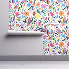 7b2acc8fe5a9 Mexican Otomi Animals - Large on Isobar by jadefrolics | Roostery Home  Decor Animal Wallpaper,