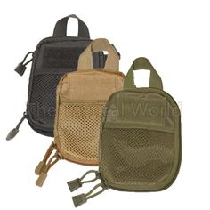 Molle Tactical Medical First Aid EDC Pouch Gear Waist Pocket Organizer EMT Survival Pouch Mesh Tools Flashlight Magazine Bag.