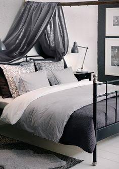 It's your bedroom -- choose the textiles and color palette that make you feel the most cozy. Check out all IKEA bedroom textiles for ideas!