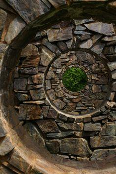 Stone Enclosure: Rock Rings (University of Washington, Bellingham, Washington) by Nancy Holt - ArtStack - art online