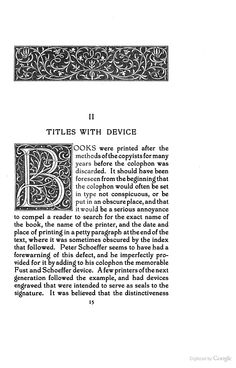 Title-pages as Seen by a Printer: With Numerous Illustrations in Facsimile ... - Theodore Low De Vinne - Google Books - Initial B