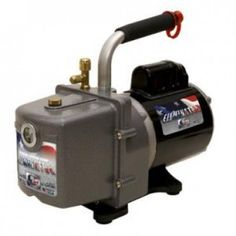 #JB Industries DV-4E Eliminator 4 CFM Vacuum Pump features 2 stage direct  drive to achieve deep 25 micron vacuum. Made in USA.