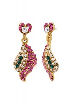 Add charm to your personality with this aesthetically designed pair of earrings. Embellished with multicoloured stones, it will go well with almost all your traditional attires. So just adorn this one and add that grace in your ethnic wear.