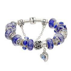 Bratara dama Hot Blue Murano crystal love Pandora Style Hot Blue, Pandora Charms, Charmed, Crystals, Bracelets, Jewelry, Style, Swag, Jewels