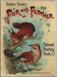 Father Tuck's Fur and Feather Postcard Painting Book