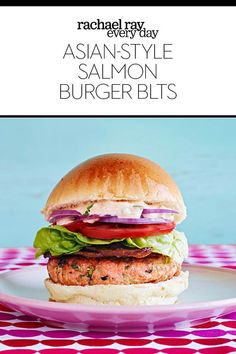 Asian-Style Salmon Burger BLT's