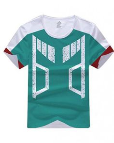 7892174aa95ab3 My Hero Academia t shirt mens Izuku Midoriya cosplay costume