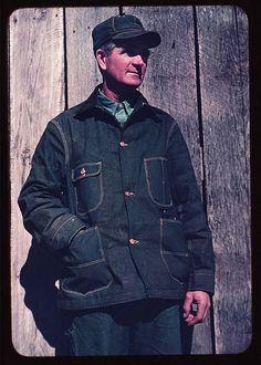 1950s denim jacket with patch pockets