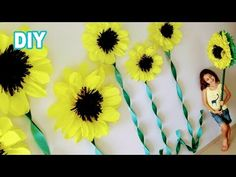 How to party decoration, environments and crafts that complements décor you find here. Giant Paper Flowers, Large Flowers, Paper Sunflowers, Masha And The Bear, Flamingo Birthday, How To Make Paper Flowers, Bear Party, Fruit Of The Spirit, Garden Theme