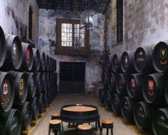 Interior at Lustau Farmhouse Ale, Wineries, Ipa, Brewing, Spanish, Interior, Wine Cellars, Indoor, Spanish Language