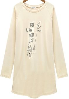 Apricot Long Sleeve DO WHAT YOU LIKE T-shirt 15.67