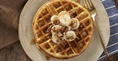 Belgian-style yeast waffles, with rich flavor, a golden, crunchy crust, and soft, smooth interior.