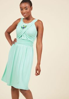 So Happy to Gather Dress in Mint in XL - Sleeveless A-line Knee Length