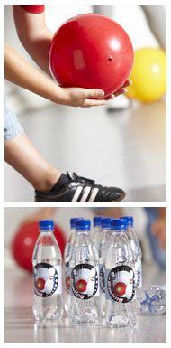 Hjemmelavet bowlingbane - Bowlingfest - Aktiviteter og lege - Dansukker http://www.dansukker.dk/dk/inspiration/bornefodselsdag/bowlingfest/aktiviteter-og-lege.aspx #dansukker #bowling #fest #børnefest #inspiration #diy