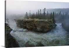 Falls on the Fond du Lac River, Saskatchewan, Canada