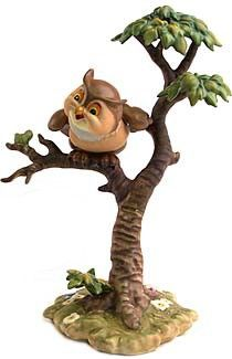 WDCC Disney Classics Bambi Friend Owl What's Going On Around Here #WDCCDisneyClassics #Art. Anniversary Backstamp: A special gold script message '50th Anniversary' was added to the backstamp of sculptures crafted in 1992. Retired 04/98.