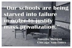 Fight privatization! Always remember that the #1 goal of any corporation is to make a profit for the shareholders. The recipients of the corporation's services (students/patients/inmates) are far behind the shareholders in priority!!! The rich get richer and the needy get screwed.