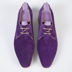 Paul Smith & John Lobb   Purple Suede Willoughby Shoes