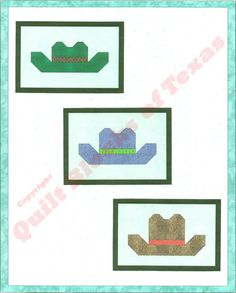 Cowboy Hat Quilt Pattern | Quilt Blocks of Texas