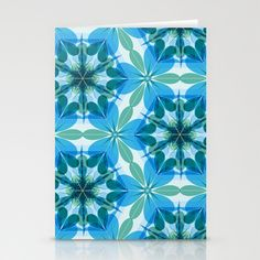 Kaleidoscopic Lagoon Stationery Cards by patterndesign - $12.00