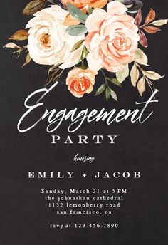 Rustic Roses - Engagement Party Invitation #invitations #printable #diy #template #Engagement #party #wedding Graduation Invitation Wording, Wedding Invitation Size, Burgundy Wedding Invitations, Engagement Party Invitations, Printable Wedding Invitations, Invitation Set, Invites, Graduation Bible Verses, Wedding Ceremony Signs