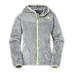 Girls' OSO Hoodie - Graphite Grey / Azalea Pink - XS - The North Face