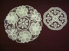 Romanian point Lace doilies