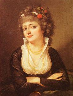 Portret Julii Potockiej, Kazimierz Wojniakowski, datowanie moje 1790  Portrait of Julia Potocka by Kazimierz Wojniakowski, about 1790 ( she died in 1794)