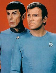 Mr. Spock (Leonard Nimoy) and Admiral Kirk (William Shatner) - Star Trek: The Motion Picture (1979)