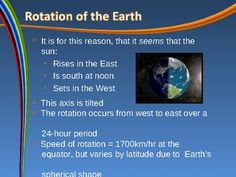 This PowerPoint presentation covers the following topics:- Rotation of the Earth and how it creates day and night- Revolution of the Earth and ...
