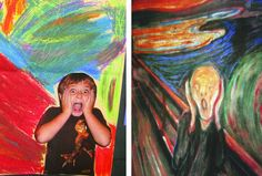 haha we are totally gonna make these in elem art this year---tried it with middle school last year and it was awesome