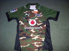 a498d33a117 2014 Blue Bulls BNWT New Alternate Camouflage Player Rugby Union Shirt  Adults XL