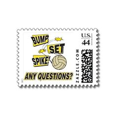 Volleyball postage stamps from Zazzle