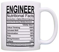 Engineering Gifts Engineer Nutritional Facts Label Science Math Gift Coffee Mug Tea Cup White ** Continue to the product at the image link. Nurse Gifts, Gag Gifts, Funny Gifts, Nurse Mugs, Percussion, Teacher Appreciation Gifts, Teacher Gifts, Principal Appreciation, Assistant Principal