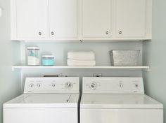 shelf above washer dryer