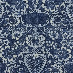 """La Garoupe – Indigo - Florals - Fabric - Products - Ralph Lauren Home - RalphLaurenHome.comLA GAROUPE – INDIGO RL Number: LFY64036F 100% Linen, Soil/ Oil Repellent, Tumbled Finish EXPERIENCE THE LA PLAGE COLLECTION Width: 52 1/2""""Horizontal Repeat: 26""""Vertical Repeat: 30 1/2""""Match: Half Drop"""