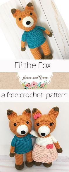 Eli the Fox - A Free Crochet Pattern | Grace and Yarn