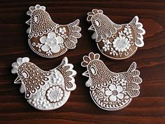 Who would even want to eat such beautiful cookies? yes, these are cookies - but would make awesome quilt ideas ! Fancy Cookies, Iced Cookies, Cute Cookies, Easter Cookies, Royal Icing Cookies, Cookies Et Biscuits, Cupcake Cookies, Sugar Cookies, Iced Biscuits