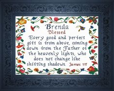 Ella - Name Blessings Personalized Cross Stitch Design from Joyful Expressions Cross Stitching, Cross Stitch Embroidery, Embroidery Patterns, Learn Embroidery, Samantha Name, Cross Stitch Designs, Cross Stitch Patterns, Stitching Patterns, Ella Name