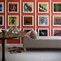Album art is a another brilliant and inexpensive frame filler 32 Creative Gallery Wall Ideas To Transform Any Room Art Vinyl, Room Decor, Wall Decor, Wall Art, Wall Collage, Decorating With Pictures, Decorating Ideas, Kitsch, Interior Inspiration