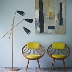 Styling for the Mid-Century Colours paint range by Kevin McCloud for Fired Earth.