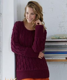 Woman's Sweater in Textured Pattern, S8920 - Free Pattern