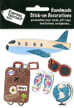 Express Yourself Handmade stick on decorations card toppers, holiday, world