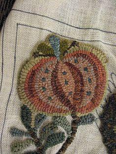 Beautiful colors rug hooking