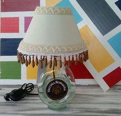 """Lampada bottiglia""""VECCHIA ROMAGNA""""da tavola,comodino!BOTTLE LAMP!made in Italy!"""
