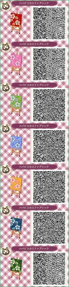 ACNL/ACHHD QR CODE-Colorful Florals Wall, Fabric