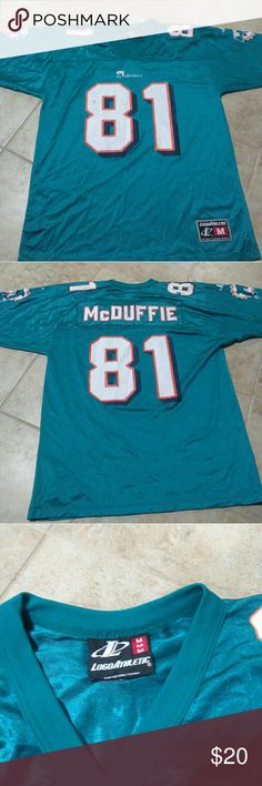 Miami Dolphins logo athletic Jersey medium Used as is Logo Athletic Shirts