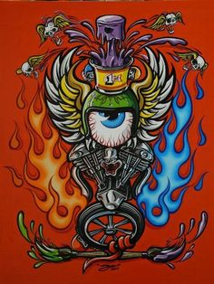 All About Art Tattoo Studio Rangiora. Quality work by Professional Artist. Rat Fink, Motorcycle Art, Bike Art, Pinstriping, Foto Gif, Pinstripe Art, Garage Art, Arte Horror, Kustom Kulture